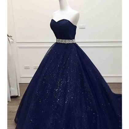Sparkle Navy Blue Sweetheart Tulle ..