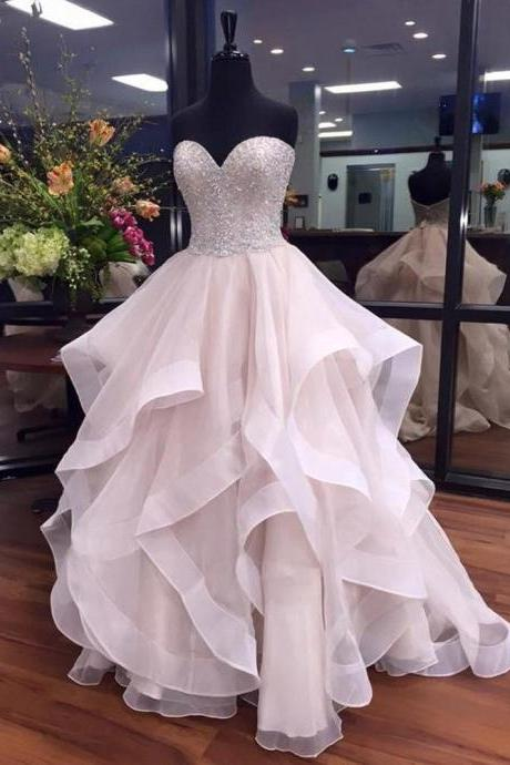 Ball Gown Beading Charming prom dress, sexy prom dress,Charming prom dress, long prom dress,prom dresses, elegant prom dress, prom dress