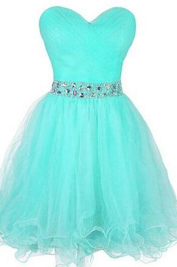 Charming Prom Dress,Mint Green Homecoming Dress,Tulle Homecoming Dress,Cute Homecoming Dresses