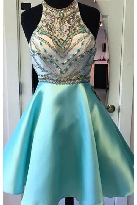 Charming Homecoming Dresses,Short Homecoming Dresses, Beading Crystals Homecoming