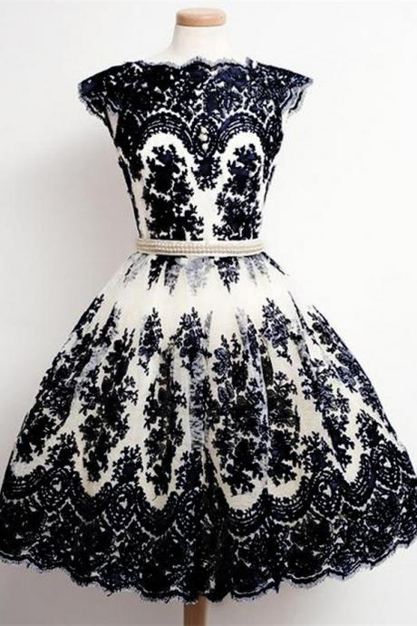 Homecoming Dresses,V-neck Lace Homecoming Dresses,Vintage Dresses,Pretty Dresses,Handmade Homecoming Dress,Short Prom Dress,Party Dresses