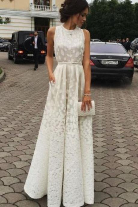 Ivory Charming Prom Dress,Long Prom Dresses,Cheap Prom Dresses,Evening Dress Prom Gowns